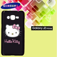 Casing Hardcase HP Samsung J2 Prime Hello Kitty black Custom Case