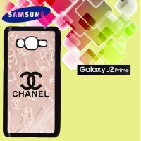 Casing Hardcase HP Samsung J2 Prime Chanel logo Pink Custom Case