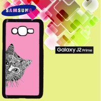 Casing Hardcase HP Samsung J2 Prime Cat Pink Custom Case