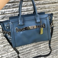 Tas Coach Swagger Blue Willow Flower Bag