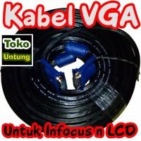 Kabel VGA to VGA 10 Meter Konektor Male to Male High Quality