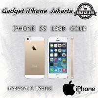 IPHONE 5S 16GB GOLD - 4G LTE - GARANSI 1 TAHUN