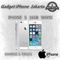 IPHONE 5 16GB WHITE - 4G LTE - GARANSI 1 TAHUN