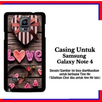 Casing Samsung Galaxy Note 4 Love Gift Custom Hardcase