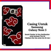 Casing Samsung Galaxy Note 5 Naruto Akatsuki Cloud Emblem Custom Hardc