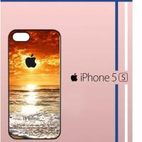 Apple Sunrise Summer Beach Casing Custom Hardcase Hp iPhone 5 iPhone