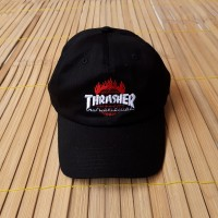 TOPI POLO CAPS HUF X THRASHER WORLDWIDE BLACK