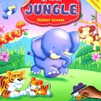 My First JUNGLE Sticker Scenes Book - (gambar gajah)