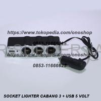 BEST PRODUCT Triple Lighter Socket Car Adaptor USB