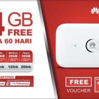MIFI 4G LTE Huawei E5573 Paket Kartu Telkomsel Free 14gb 1 Bulan