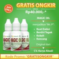 Obat Herbal Oles Pengencang Alat-Vital Pria Ereksi-Kuat - Magic Oil