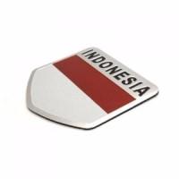 Jual promo logo emblem mobil Indonesia Merah Putih Dasar Plat Aluminium Murah