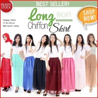 Jual [All Size] Korean Long Chiffon Skirt Rok Panjang Wanita RK049 Murah