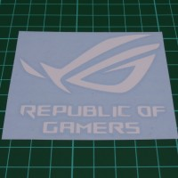 Sticker / Stiker Cutting Republic of Gamers (ROG)