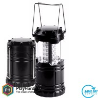 Lampu Lentera Camping Lantern 30 LED Water Resistant - Black