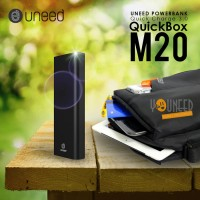 Jual UNEED UPB302 Quickbox M20 Powerbank 20000 mAh Qualcomm 3.0 & Lightning Murah