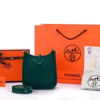 Tas Hermes Evelyne Mini TPM Clemence Hijau Malachite SOC1044