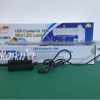 Jual Lampu Jepit Aquarium / Akuarium HAI LONG LED Crystal CL 12W 12 Watt Murah