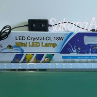 Jual Lampu Jepit Aquarium / Akuarium HAI LONG LED Crystal CL 18W 18 Watt Murah