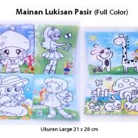 Jual Harga Grosir Mainan Lukisan Pasir FULL COLOR Edukatif Edukasi Anak Pe Murah