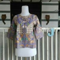 Jual Bolero batik fit M motif D warna pastel Murah