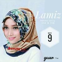 Jual Hijab Segiempat Satin Lamiz by Azzura Motif 9 - Jilbab Scarf Murah Murah