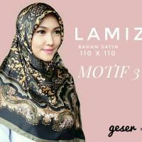 Jual Hijab Segiempat Satin Lamiz by Azzura Motif 3 - Jilbab Scarf Murah Murah