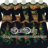 Jual Dress Kancing Busui Prada Songket / Daster Panjang / DKSM001 Murah