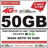 Kartu Perdana Smartfren 4G LTE Paket Kuota Super Besar 50GB - 3 Bulan