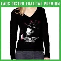 Jual Kaos Wanita Lengan Panjang Aerosmith 3 WLP-AFM27 Murah