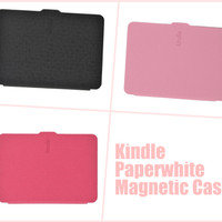 Amazon Kindle Paperwhite PU Leather Smart Magnetic Cover Case