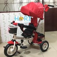 Jual Tricycle Shincan Kanopi MF TRIKE Red Sepeda Anak Roda Tiga Murah