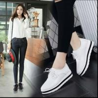 Jual Sepatu Wanita Kets Casual White N Black Murah