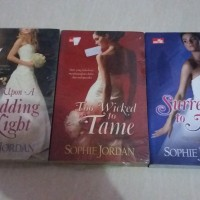 SET SOPHIE JORDAN-ONCE UPON A WEDDING NIGHT-TOO WICKED TO TAME-SURREND