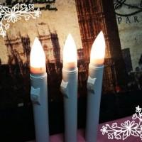 Jual Lilin elektrik led kuning PANJANG PUTIH (baterai AA) electric candle Murah