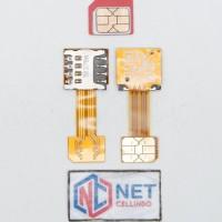 FLEXIBLE ADAPTER SIM HYBRID / KONVERTER DUAL SIM CARD HYBRID MICRO