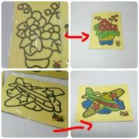 Jual Belajar mewarnai dengan pasir warna mirip stiker Murah