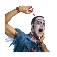 New Sulap suntikan menancap di kepala Halloween magic toy prank
