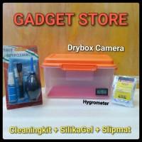 Paket Dry Box kamera DSLR dan cleaning kit 7 in 1 termasuk Silica gel
