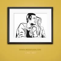 Ubah Foto Jadi Desain Line Art Couple Unik Untuk Hadiah/Souvenir/Mahar