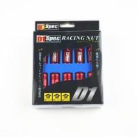PREMIUM QUALITY- Baut Roda D1 Spec Racing Lug Nuts Set 20, size 12 x