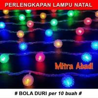 Jual Jual Hiasan Lampu Natal Model Bola Duri (1 SETT = 10 pcs) Murah