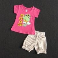 Kaos Setelan Anak Perempuan 6-12 bulan HARGA GROSIR. STC40
