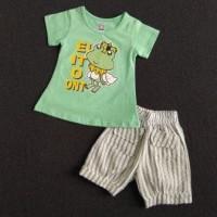 Kaos Setelan Anak Perempuan 1-2 Tahun. S-M-L HARGA GROSIR. STC40