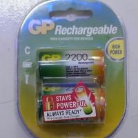 Jual Baterai C Battery GP HIGH Power Rechargeable 2200 mAh Murah