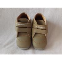 Jual sepatu anak LED abu perekat simpel tanpa tali Murah Murah
