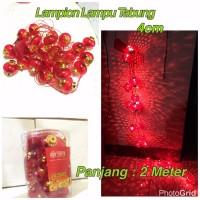 Jual Lampion Imlek / Lampion Lampu Tabung ( Isi : 24 Pc ) Uk : 4cm Murah