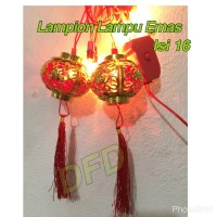 Jual Lampion Imlek / Lampion Lampu Emas ( Isi : 16 Pc ) Uk : 8cm Murah