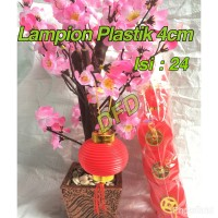 Jual Lampion Imlek / Lampion Plastik 4 Cm ( Isi : 24 Pc ) Murah