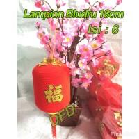 Jual Lampion Imlek / Lampion Bludru Lonjong 18cm ( Isi : 6 Pc ) Murah